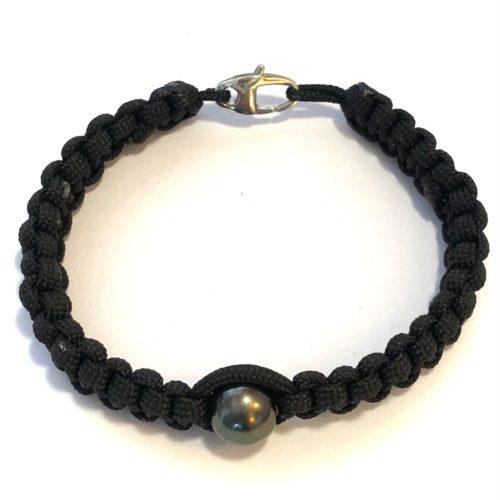 Bracelet perle de Tahiti macramé