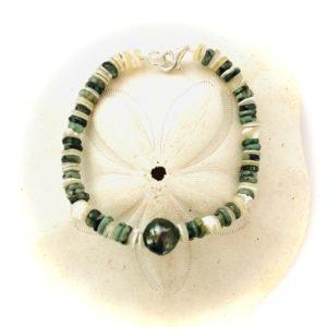 bracelet perle de tahiti et hieshi