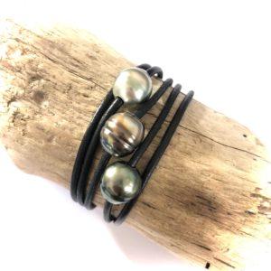 bracelet multi tours perles de tahiti